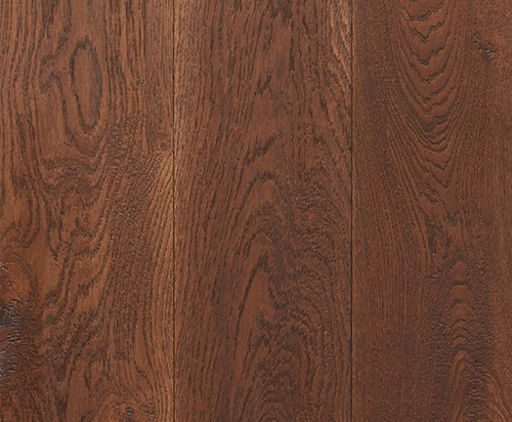 Xylo Dark Walnut Stained Engineered Oak Flooring, Rustic, Handscraped, Brushed & UV Oiled, 190x4x20 mm