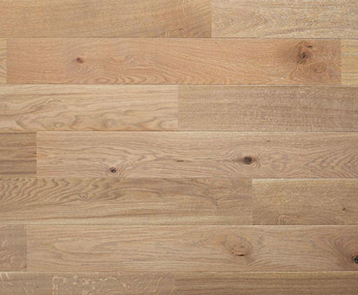 Xylo Pearl White Stained Engineered Oak Flooring, Brushed & UV Oiled, 164x2.5x13 mm