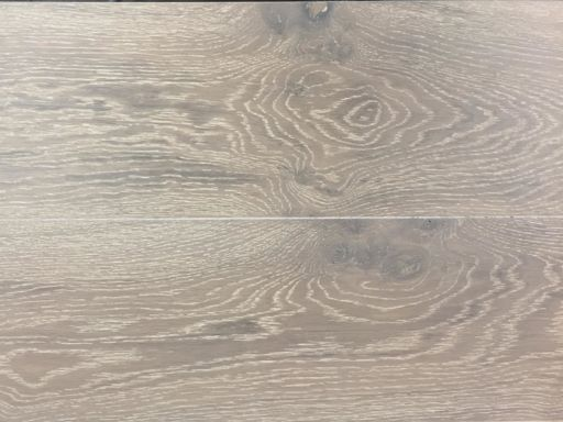 Xylo Polar White Stained Engineered Oak Flooring, Rustic, Brushed & UV Oiled, 14x3x240 mm