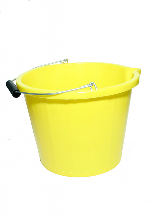 3 Gallon Yellow Plastic Bucket