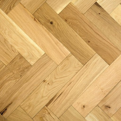 V4 Natural Engineered Oak Parquet Flooring, Rustic, Smooth Sanded & Hardwax Oiled, 90x15x360 mm